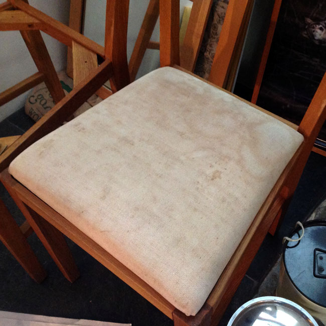 Chair in need of re-upholstery