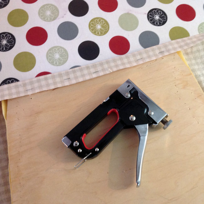 Fix straightest edge with staple gun