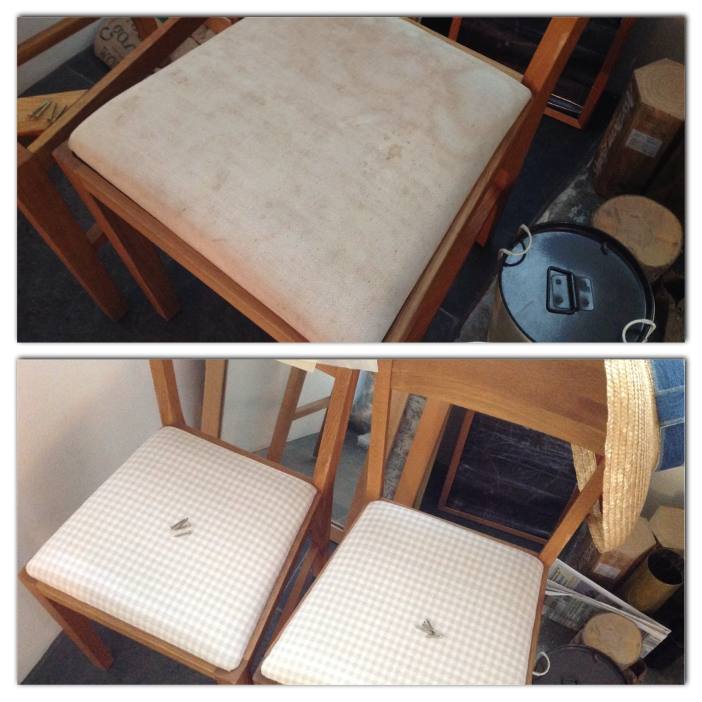 Take A Seat – how to re-upholster a dining chair, for complete