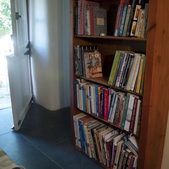 The cookbook shelves