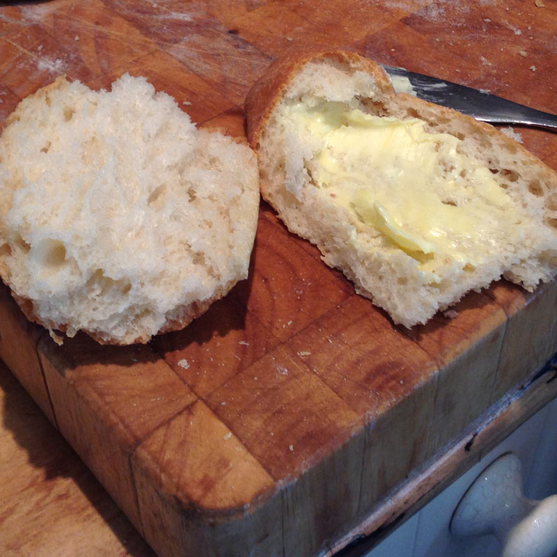 Enjoy with unsalted butter