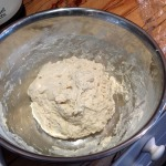 Roughly mix the dough and allow to rest