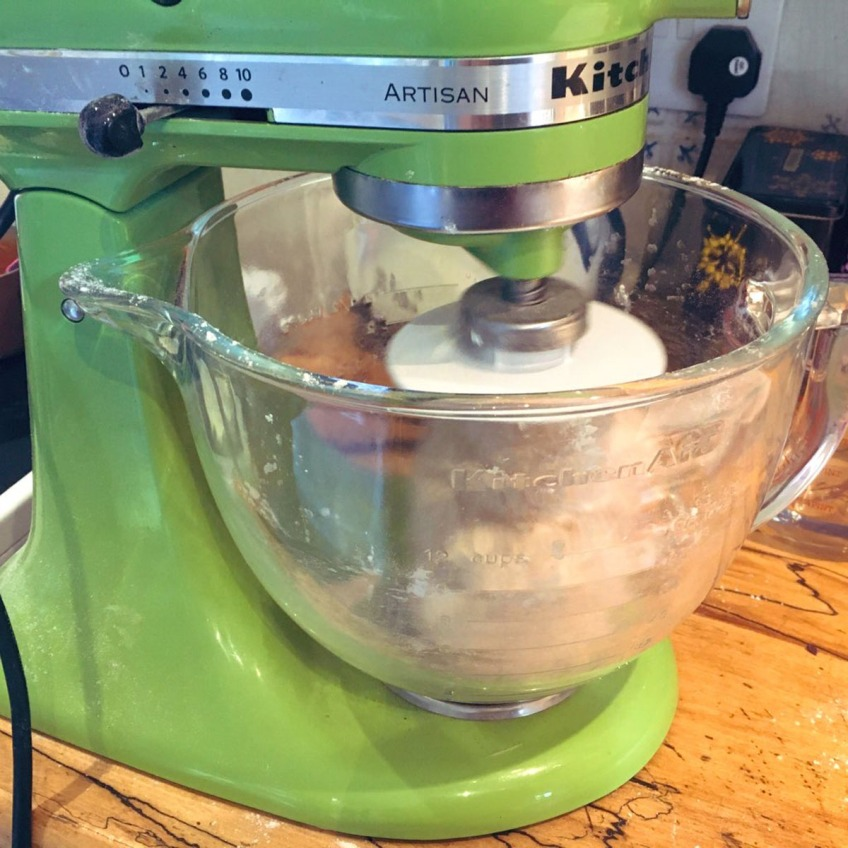 Dough in the mixer