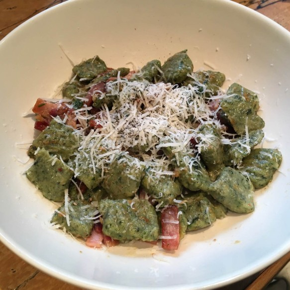 Stinging Nettle Gnocchi with Garlic and Sage Butter